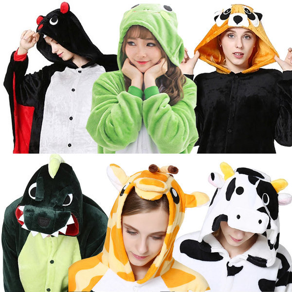 동물잠옷/극세사 수면잠옷/공룡/반티/캐릭터 커플잠옷 상품이미지
