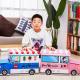 어린이 자동차 장난감 정리함 경찰차(파랑)