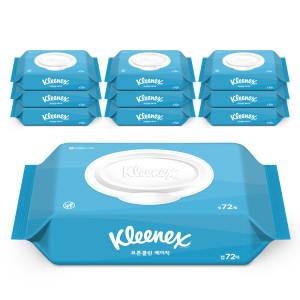 수앤수 코튼클린 베이직 물티슈 캡72매 20개/화장지