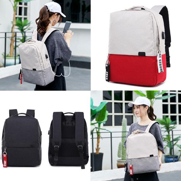 USB 남자 여자 대학생 직장인 여행용 배낭 백팩 가방 상품이미지