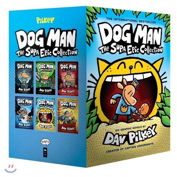 Dog Man  1-6 : The Supa Epic Collection : 도그맨 원서 하드커버 6종 박스 세트 : From the Creator of Captain Un... 상품이미지