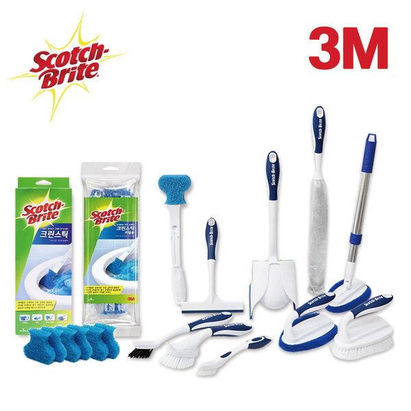 3M 청소도구 크린스틱 리필 욕실 변기 화장실 청소 솔 상품이미지