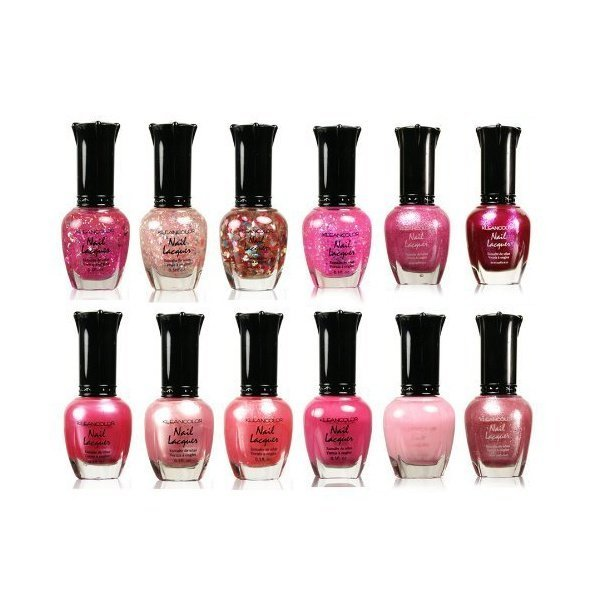 해외쇼핑/Kleancolor Collection - Awesome Pink Colors Assorted Nail Polish 12pc Set 상품이미지