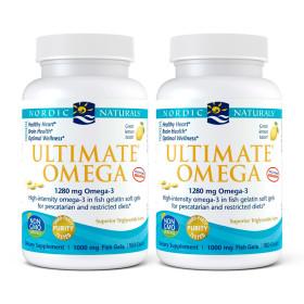 2개 얼티메이트 오메가3 피쉬 젤라틴 1280 mg EPA 650 / DHA 450 레몬 180 소프트젤 Nordic 빠른직구