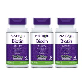 3개 비오틴 맥시멈 스트렝스 10000 mcg 100 타블렛 Biotin 바이오틴 NATROL 빠른직구