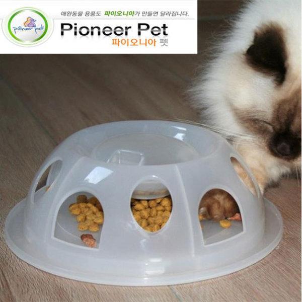 고양이식기 파이오니아펫 사냥본능-화이트 다이어트 상품이미지
