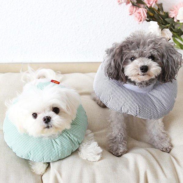 스트라이프 강아지넥카라 L 상품이미지