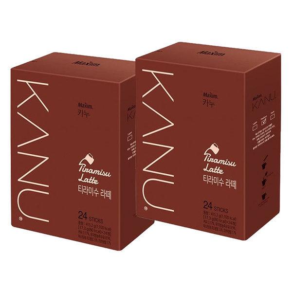 맥심 카누 티라미수 라떼 48T(24Tx2개) 상품이미지