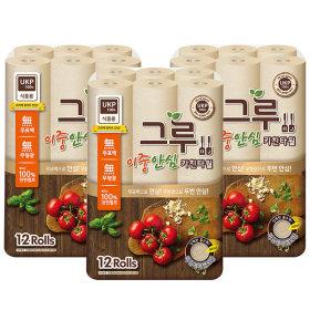 키친타올 120매 12롤x3 식품용인증/무표백 cr-B400