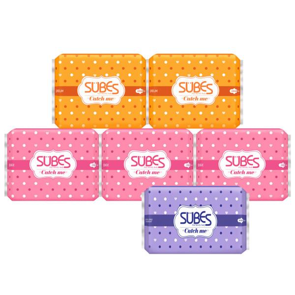 생리대 캐치미 슬림 중형 2팩+대형 3팩+슈퍼롱오버 1팩 상품이미지