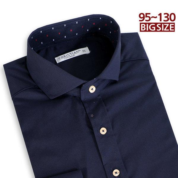 DN.047 긴팔 와이셔츠 네이비정장 남자남성 빅사이즈 상품이미지