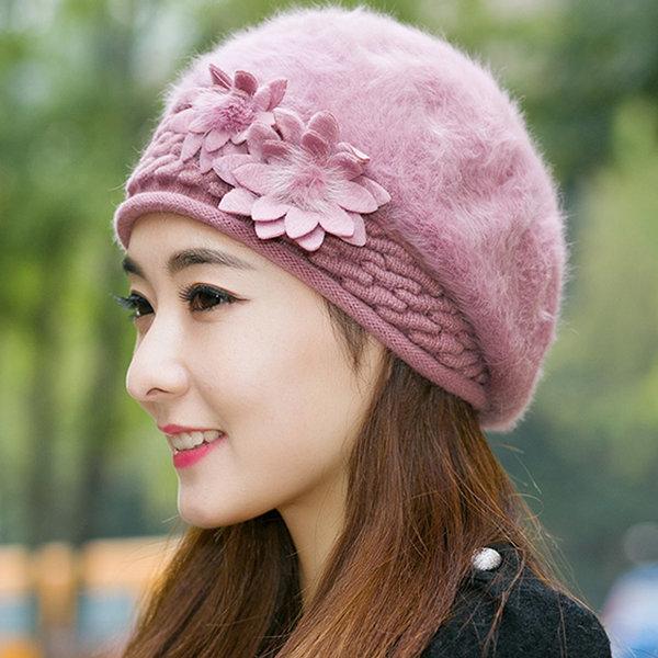 여성 털 등산 겨울 모자 니트 털모자 방한모자 앙고라 상품이미지
