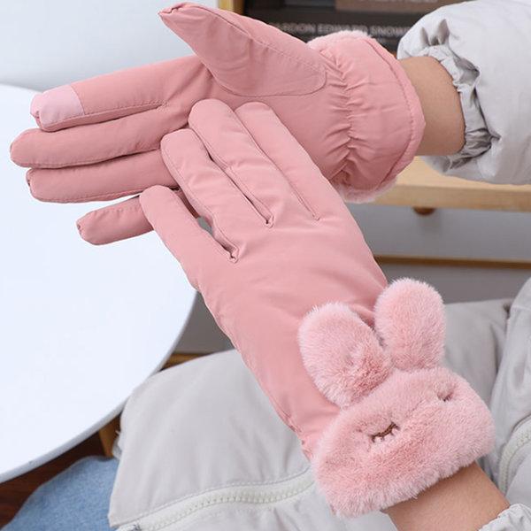 여성 겨울 터치 등산 스마트폰 장갑 털장갑 방한장갑 상품이미지