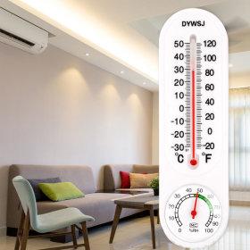 아날로그 벽걸이 온습도계 수은 온도계 습도계 막대형