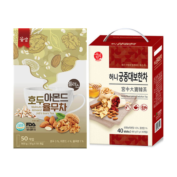 꽃샘 호두아몬드 율무차 50T+ 송원 궁중대보한차 40T 상품이미지