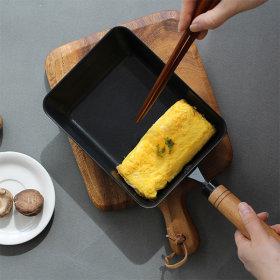 건강한팬 쉐프스틸 우드핸들 계란말이팬 20cm