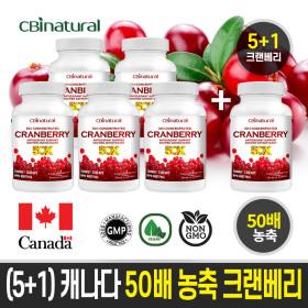 (5+1) 50배 농축 캐나다 크랜베리 120캡슐 캐나다생산