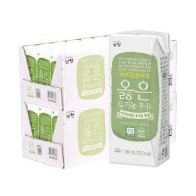 옳은 유기농 우유 180ml 48팩 (24팩+24팩)