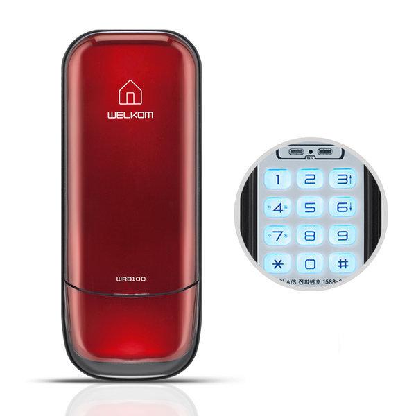 WRB100 레드 번호키전용 현관문 디지털도어락 도어록 상품이미지