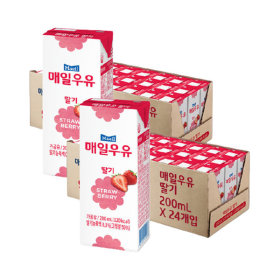 매일 딸기 멸균우유 200ml 48팩