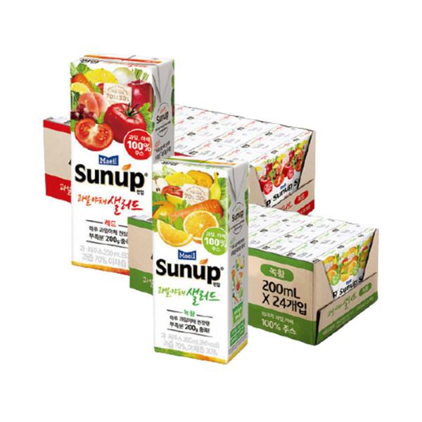 썬업 과일야채샐러드 레드 + 녹황 200ML 48팩 상품이미지