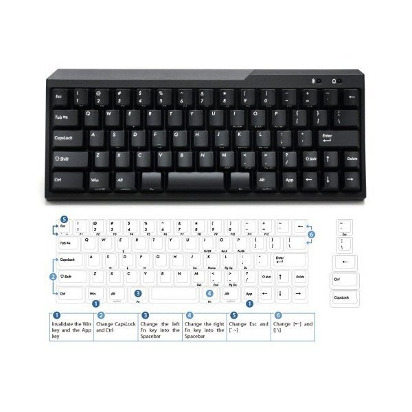 해외쇼핑/USA Majestouch MINILA Air 67 Key Click Action Bluetooth Keyboard FFBT67MC/EB 상품이미지