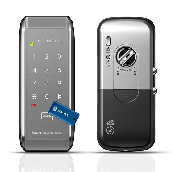 WAT310 샷시문용 카드키4+번호키 샤시문 디지털도어락 상품이미지