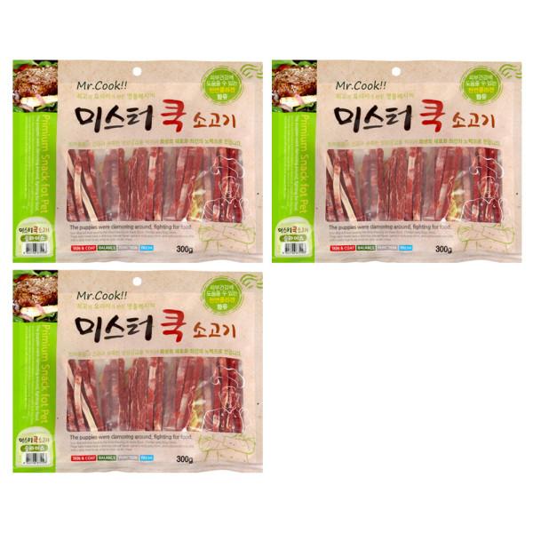 미스터쿡 강아지 사사미 간식 소고기 슬라이스 300g 상품이미지