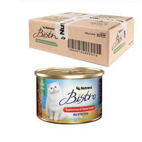뉴트리나 흰살참치와 닭안심 160g 24개 고양이 주식캔