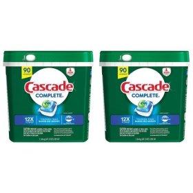 캐스케이드 컴플리트프레쉬 식기세척기세제 90캡슐 1+1