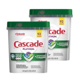 캐스케이드 플래티넘 식기세척기 세제 92캡슐 1+1
