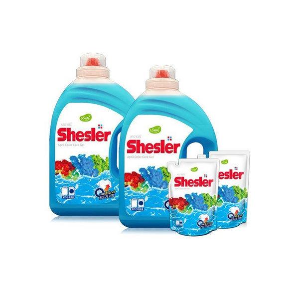 쉬슬러 고농축 액체세제 3.05L 2개+증정2종/세탁세제 상품이미지