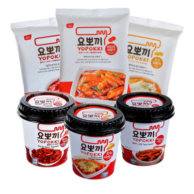 [YOPOKKI]Tteokbokki cup collection(spicyNsweet/cheese/spicy)