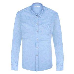 RFAC1015 팝콘디자인 슬림 파란색셔츠 독특 패션 와이 상품이미지