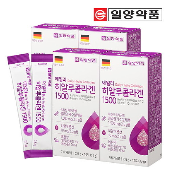 (AK몰)(일양약품)일양약품 히알루 저분자 콜라겐 펩타이드 4박스 (56포) 상품이미지