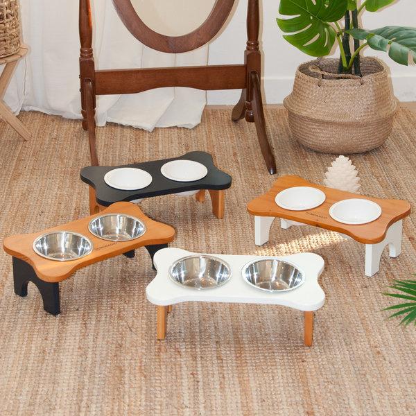 강아지밥그릇 고양이밥그릇 원목식기 시리즈 상품이미지