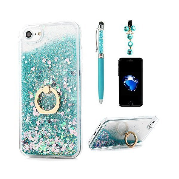 해외쇼핑/iPhone 8 Case  iPhone 7 Case  Flowing Liquid Floating Bling Glitter Kickstand Cover Shell P 상품이미지
