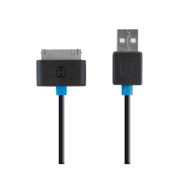 해외쇼핑/iHome 30 Pin USB Cable for Smartphones - Retail Packaging - Black 상품이미지