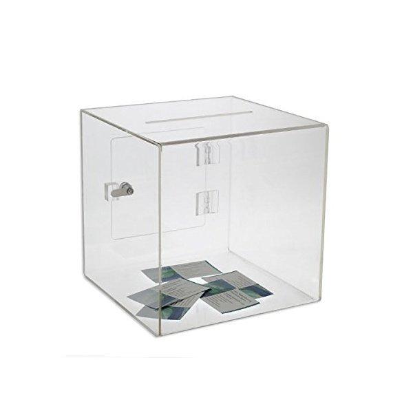 해외쇼핑/Source One Medium Premium Clear Acrylic Ballot Box Donation Box Cube (10 inch) 상품이미지