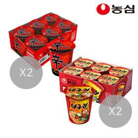 신라면컵12개+너구리컵12개(총24개)