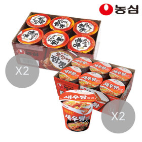 새우탕컵12개+오징어짬뽕컵12개(총24개)