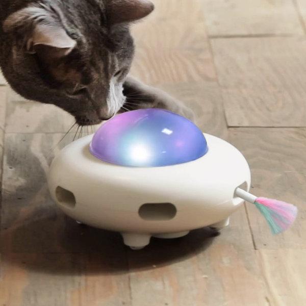 펫케어 스마트 우주선 고양이 깃털 자동장난감 상품이미지