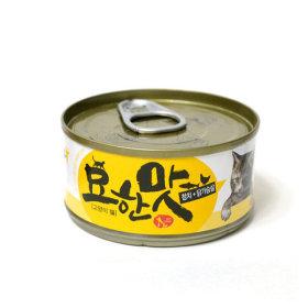 묘한맛 고양이 캔간식 참치 닭가슴살 80g 1개