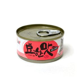 묘한맛 고양이 캔간식 참치 타우린 80g 1개