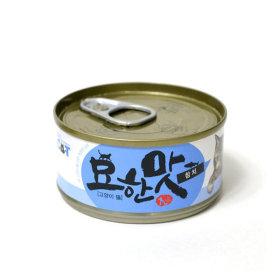 묘한맛 고양이 캔간식 참치 오리지널 80g 1개