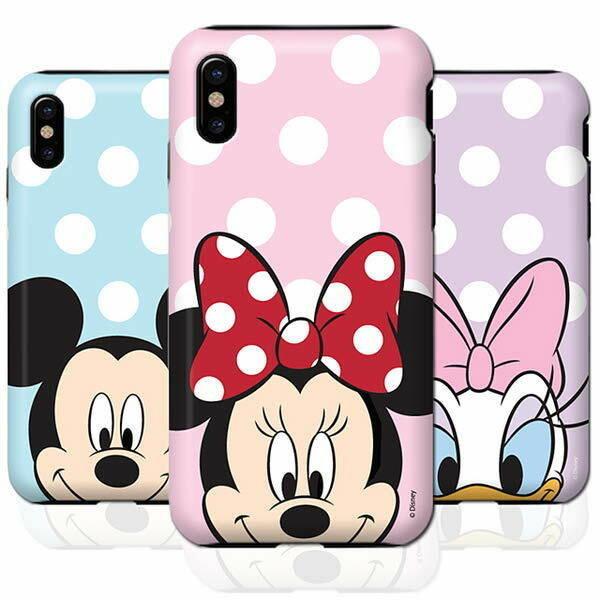 (현대Hmall) 원스컴퍼니 디즈니 프렌즈 도트 터프 범퍼 케이스(JH) 휴대폰 커버 바보사랑 상품이미지