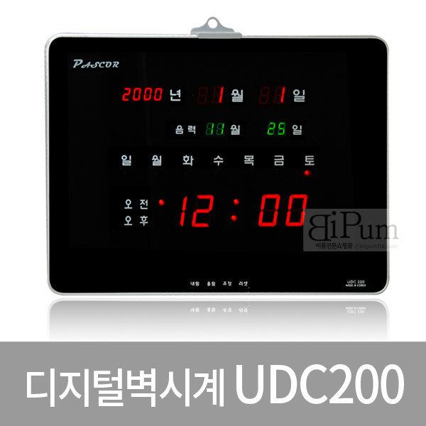 국내산 LED디지털벽시계(UDC200) 판촉물 식당 사무실 상품이미지