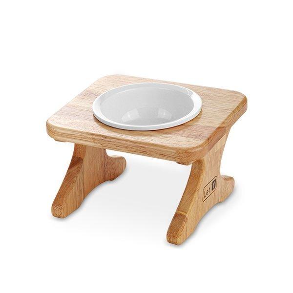 레티 원목 애견식탁1구 도자기 식기세트(16cm 원목) 상품이미지