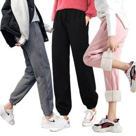 트레이닝바지 기모 츄리닝 융털 극세사 여성 운동복