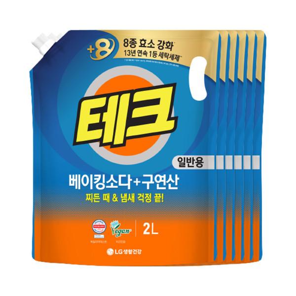 테크 베이킹구연산 액체세제 일반 리필2L 6개 +1L증정 상품이미지